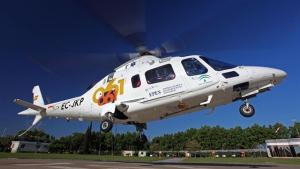 Imagen de archivo de un helicóptero del 061.