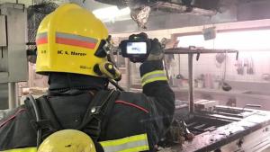 Imagen de la cocina en la que se ha originado el incendio