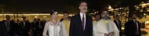 Imagen de los Reyes de España y Mohamed VI durante la cena de gala