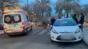 Imagen del accidente de Badajoz en el que una menor de 13 años ha resultado herida