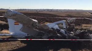 Imagen del accidente en el que los dos pasajeros han perdido la vida