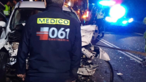 Imagen del accidente en la carretera de Rasines