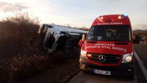 Imagen del accidente ocasionado en la AP-15