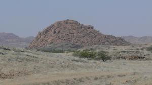 Imagen del aspecto de un drumlin en el desierto de Namibia