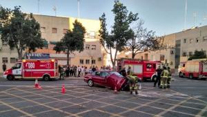 Imagen del vehículo accidentado en Sevilla