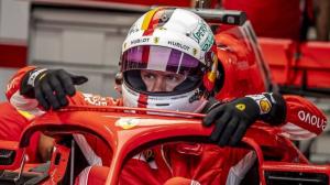 Imatge d'arxiu de Sebastina Vettel amb Ferrari