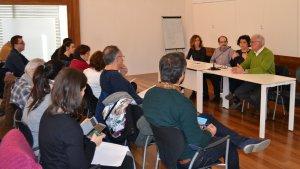 Imatge de la presentació del projecte «A-porta», al Centre Cívic Llevant