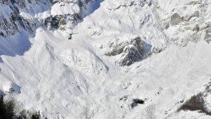 Imatge de la zona on ha tingut lloc l'allau mortal als Alps