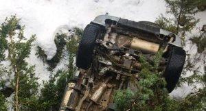 Imatge de l'accident a Bellver de Cerdanya