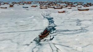 Imatge del mar congelat a la Xina