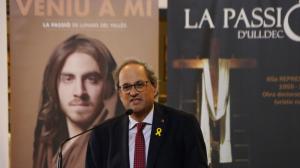 Imatge del president de la Generalitat, Quim torra, a Ulldecona