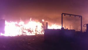 Incendi en una empresa de gestió de residus a Lliçà de Vall