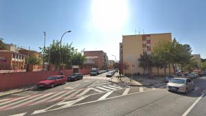 Intersecció entre carrer Miró i carrer Muralla a Reus