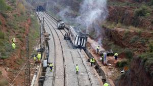 Investiguen dos membres d'Adif pel descarrilament mortal d'un tren a Vacarisses