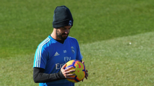 Isco, durant un entrenament del Reial Madrid.