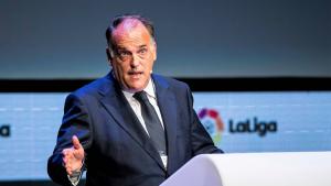 Javier Tebas, president de LaLiga, critica Gerard Piqué per les seves paraules a favor dels presos catalans