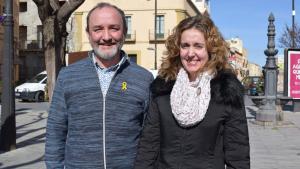 Jordi Cartanyà, número 1 de la llista d'ERC a Valls, i Núria Gavarró, número 2 dels republicans a la capital de l'Alt Camp.