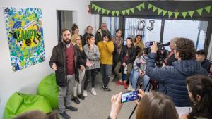 Jordi Rueda, a la inauguració de la Caseta - Espai Jove Districte 7