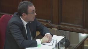 Josep Rull declarant durant el judici del procés