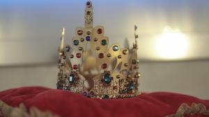 La corona del Rei Carnestoltes del Carnaval de Tarragona.