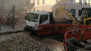 La fuga ha sido ocasionada durante unas obras en las tuberías