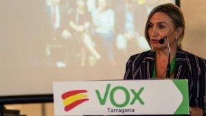 La presidenta de Vox Tarragona, Isabel Lázaro