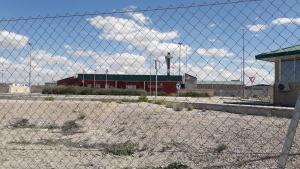 La presó d'Estremera darrere la primera reixa de seguretat