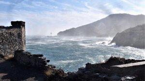 La tramuntana és molt forta al Cap de Creus, Alt Empordà, a la costa Vermella francesa i als cims del Pirineu