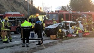 L'accident ha obligat a tallar la via