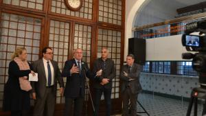 L'alcalde de Reus, Carles Pellicer, durant la presentació del conveni de col·laboració amb l'ANEV