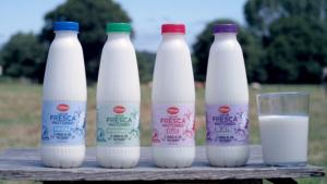 Las diferentes variedades de leche fresca con doble certificado de Lidl