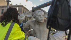 Les escultures de la Font del Centenari ja estan restaurades