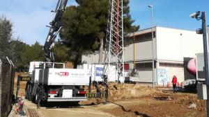 Les obres d'Endesa a les instal·lacions de RTVE a Sant Cugat del Vallès
