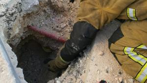 Los bomberos han realizado comprobaciones en el lugar del escape