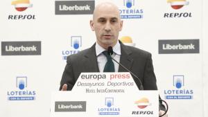 Luis Rubiales, durant els 'Desayunos Deportivos' d'Europa Press.