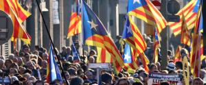 Manifestants contra el judici als presos polítics