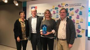 Marta Puig, directora de FUPAR, ha recollit el premi