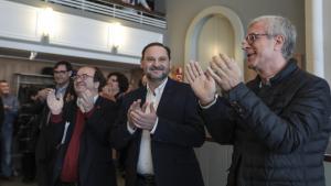 Miquel Iceta, José Luis Ábalos i Josep Fèlix Ballesteros, aquest diumenge al Serrallo.