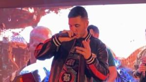 Omar Montes durante la fiesta privada de Lucas Hernández