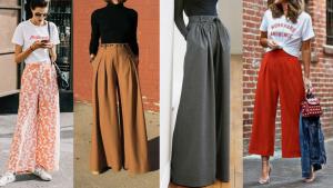 Pantalones 'palazzo' de diferentes estilos para todos los cuerpos