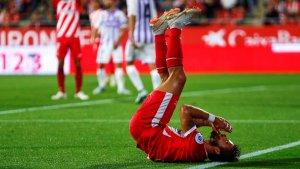 Portu es lamenta en l'empat del Girona contra el Valladolid a Montilivi.