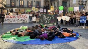 Protesta contra el canvi climàtic aquest divendres a Barcelona