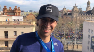 Raúl González corre la mitja marató de Barcelona