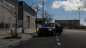 Recreació del lloc on va ser trobar el cos de la Rosalia, al carrer de Pelleters, al polígon Alba.