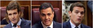 Rivera y Casado piden movilizar la calle en contra de Sánchez