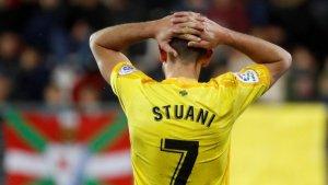 Stuani es lamenta després d'un dels gols de l'Eibar