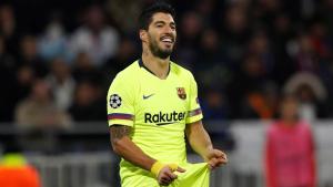 Suárez es lamenta després de fallar una ocasió