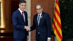 Torra insta a Sánchez a ser «valent», a prendre una «decisió política»