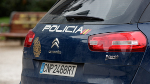 Un cotxe de la Policia Nacional