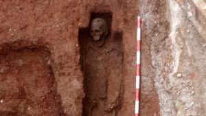 Un dels esquelets de la troballa arqueològica del passat gener